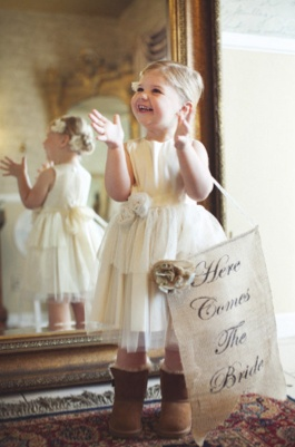 flower girl, love the Uggs with the dress