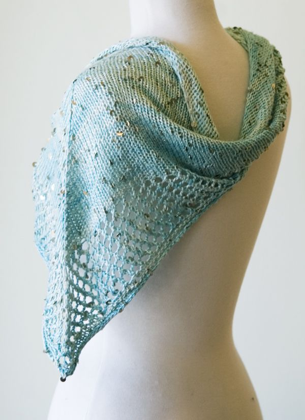 knitculture.com Stargazing Shawl in star gazer by Knit Collage. Free pattern....