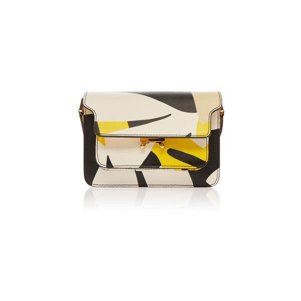 Marni ($2,310) ❤ liked on Polyvore featuring bags, handbags, shoulder bags, shoulder strap handbags, miniature purse, pink purse, marni purse and saffiano leather handbag