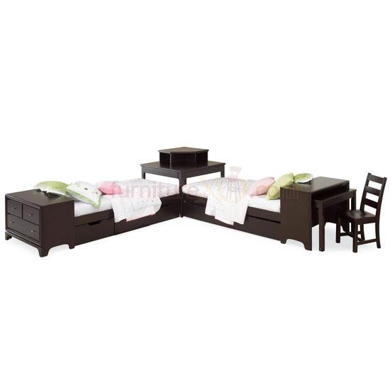 Bed corner unit w attached dresser desk love kid s room pinterest desks beds and - Beds with desks attached ...