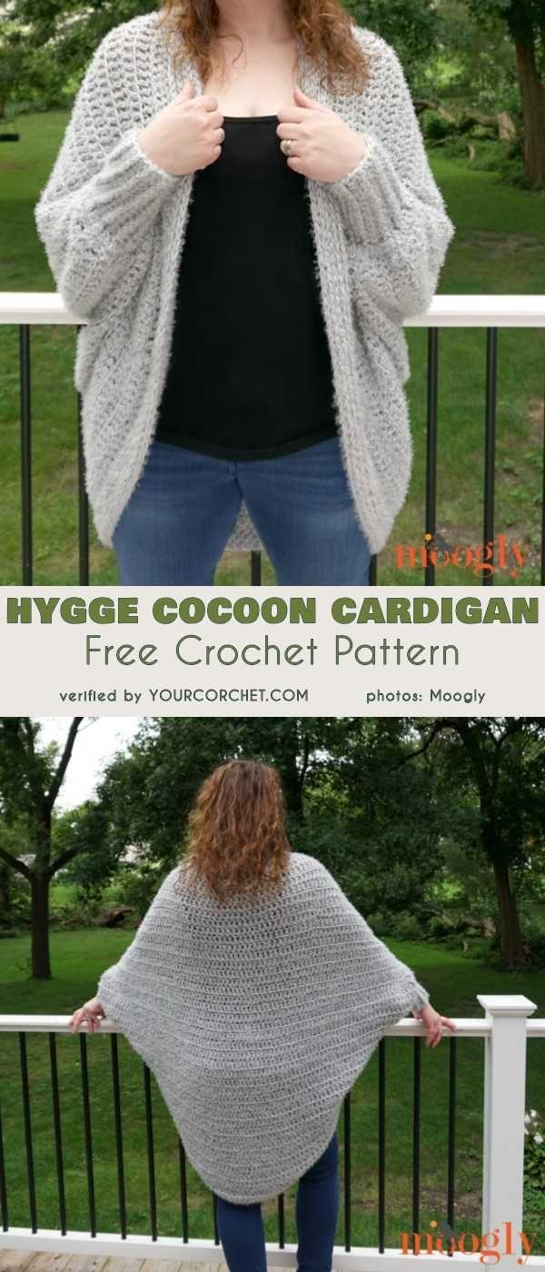 8516c8d271818 Hygge Cocoon Cardigan Free Crochet Pattern