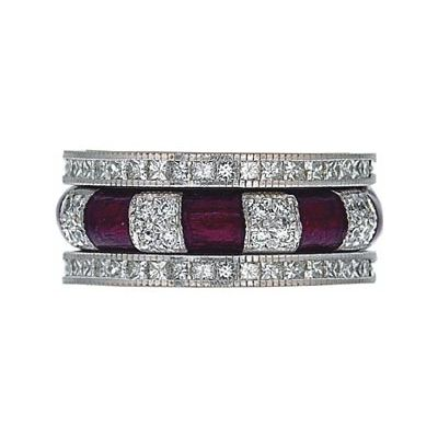 Hidalgo Stackable Rings Art Deco Collection Set (RR1043MIL & RN2007MIL) - Hidalgo Jewelry