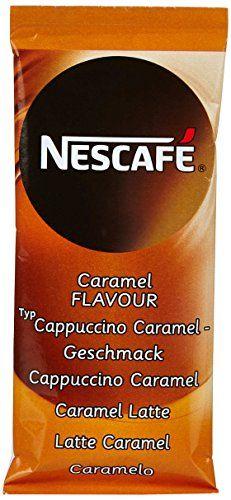 NESCAFÉ Cappuccino Caramel Café Soluble Boîte de 8 Bâtons 136 g: Avec NESCAFÉ Cappuccino Caramel, fondez pour l'alliance délicate du café,…