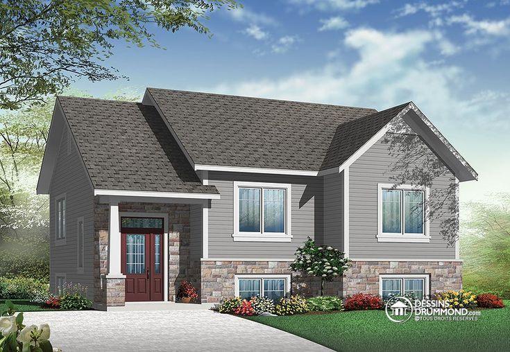 Plan de Maison unifamiliale W3323-V1, Description du plan  Rez-de-chaussée: Entrée, salle à manger, cuisine/dînette, salle de séjour, deux chambres et salle de bain.