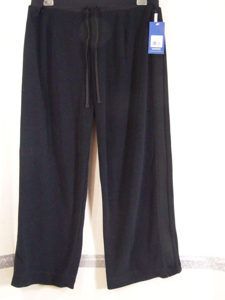 Reebok Classic Workout Beach Pants Size Large Polyester Black NWT #Reebok #LoungeworkoutPants