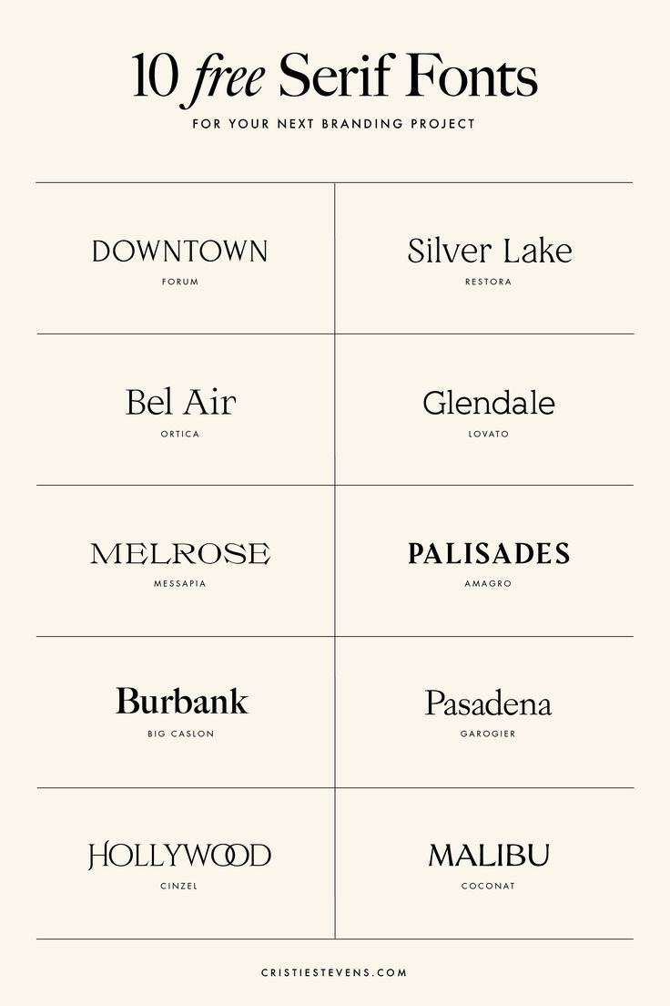 10 FREE serif fonts for your next branding project