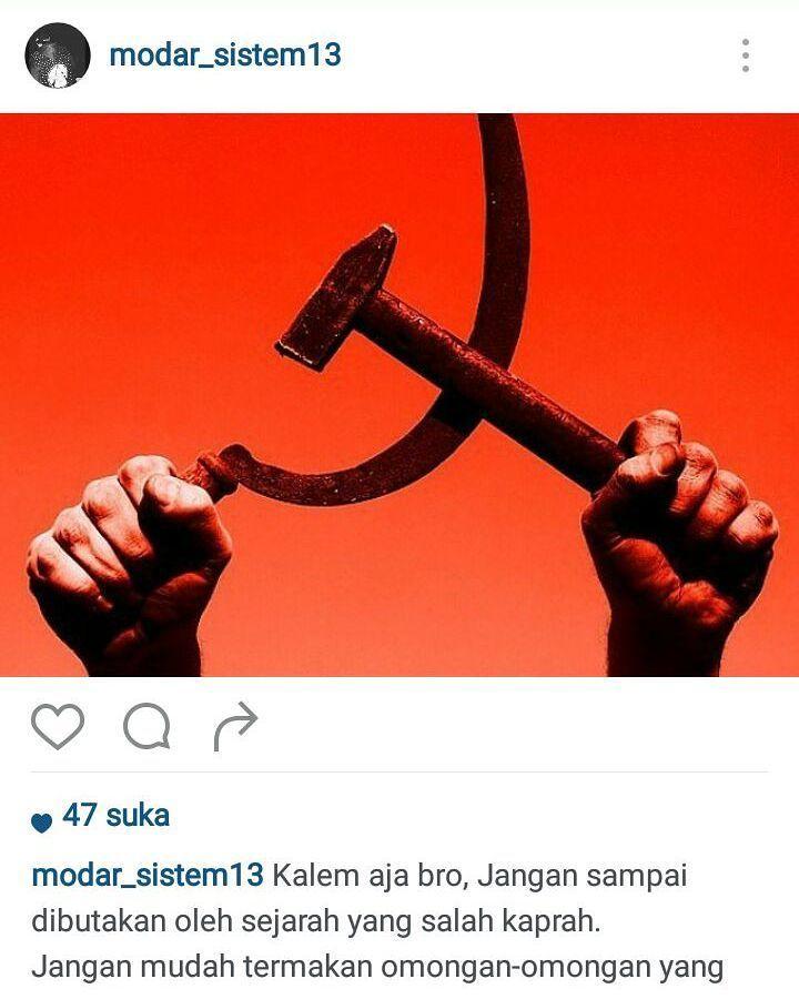AWAS KOMUNISME BANGKIT  [07:11 4/13/2016] Abu Fauzan Siswanto:  Waspadai Geliat Komunis di Negeri Nyiur Melambai  cc : @divisihumaspolri  #awaskomunis #komunisme  #komunis #pki