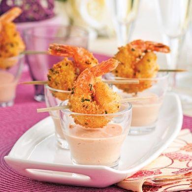 Crevettes croustillantes et sauce cocktail crémeuse - Recettes - Cuisine et nutrition - Pratico Pratique