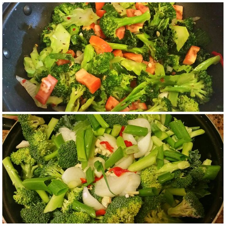 Steam broccoli  and  kale  ...finish it off with fresh  lemon  juice  and  fresh dice tomatoes  ..it's so good...