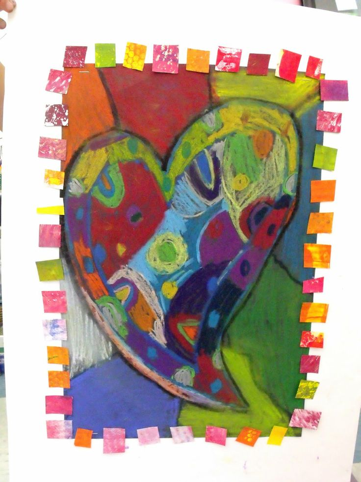 jim dine heart art projects for kids | Glimmer of Light: Happy Students...Happy Hearts!