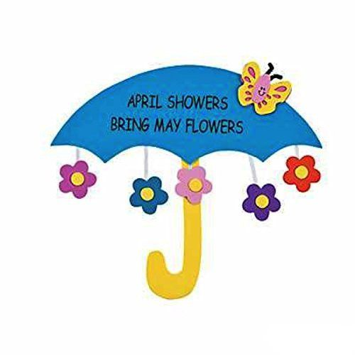 April Showers Bring May Flowers Sign Craft Kit - Crafts for Kids & Decoration Crafts