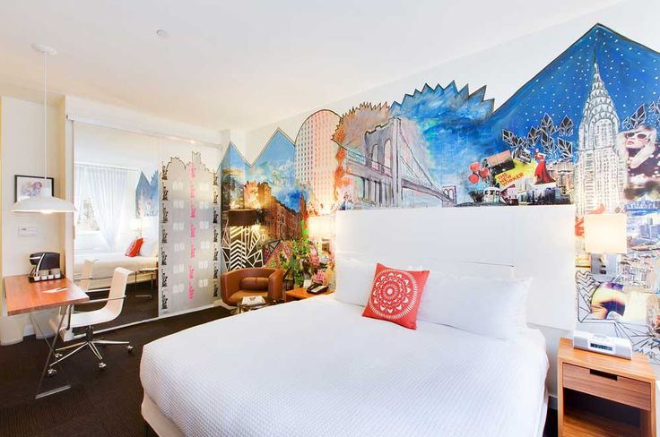 Drawing Room Painting Idea with white bedroom and secenary wall painting
