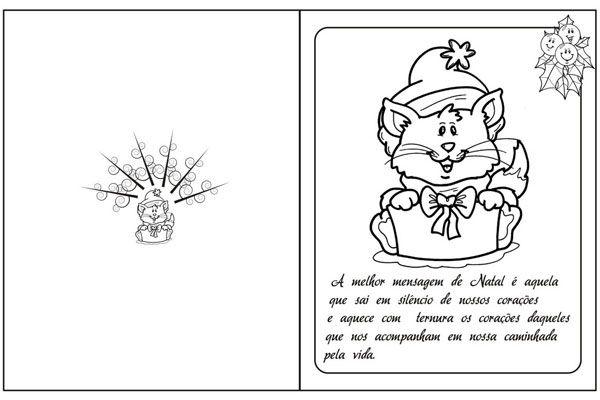 Cartao De Natal Para Imprimir E Colorir Modelos Criativos