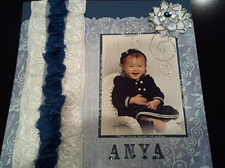 Very Cute Scrapbook page using one photo.