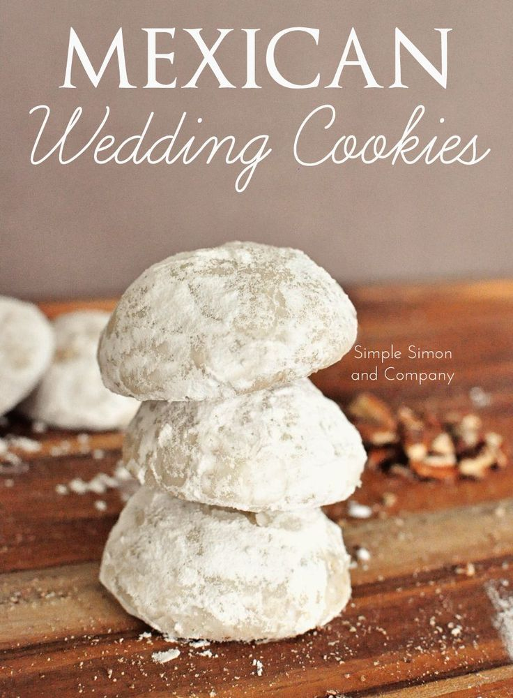 Mexican Wedding Cookies  --  simple recipe, scrumptious pecan shortbread cookies!