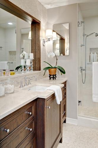 Crema Marfil Countertops Kari Hiltner Ckd Traditional Bathroom Minneapolis Kmh Design