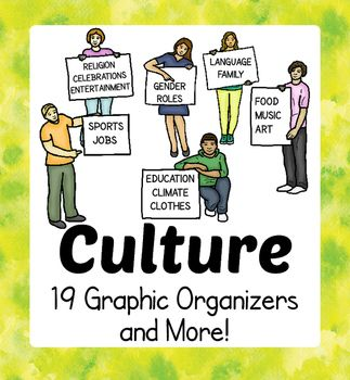 FREE Culture Cultural Diversity Graphic Organizers Activities