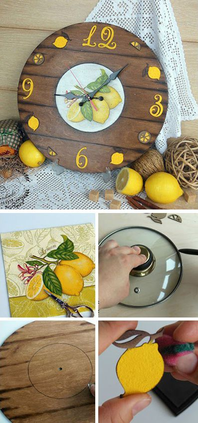 Wall clock decor. Click on image to see step-by-step tutorial