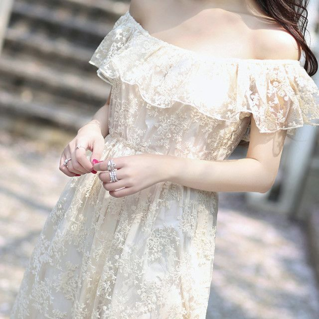 -에떼에뚜왈- 하와이원피스 오프숄더 셀프웨딩 빈티지 드레스 웨딩 원피스