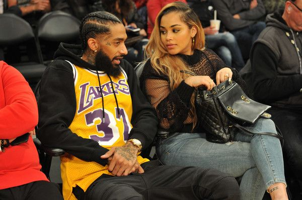Lauren London And Nipsey Hussle Photos Photos Celebrities At The Los Angeles Lakers Game Lauren London Lauren London Nipsey Hussle Los Angeles Lakers