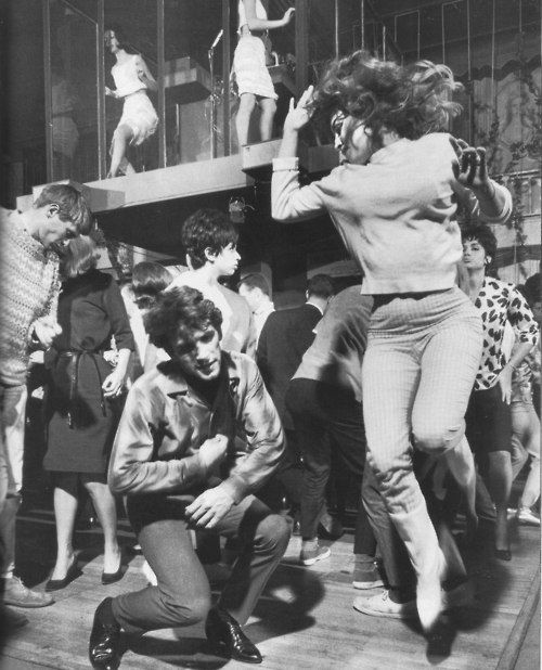 Getting down at the Whiskey a Go Go, 1960s. The Whiskey a Go Go was the first nightclub to have suspended cages and cage dancers (Go Go dancers).