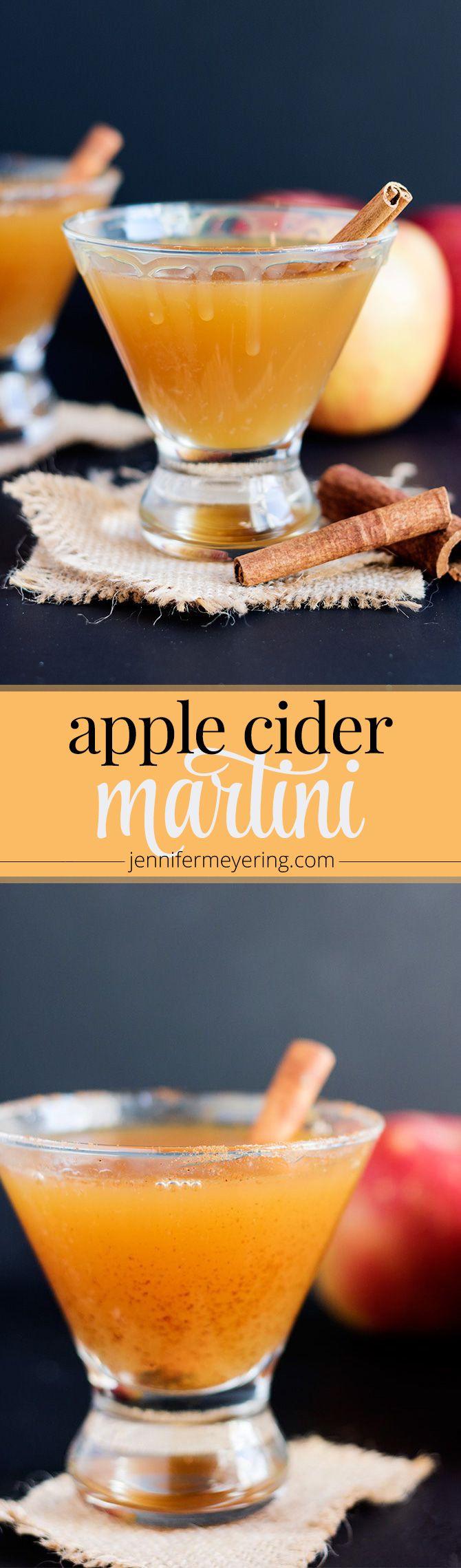 Apple Cider Martini - JenniferMeyering.com