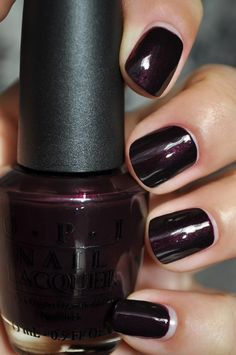 I have this color and absolutely love it.  OPI Black Cherry Chutney.  My new winter color.