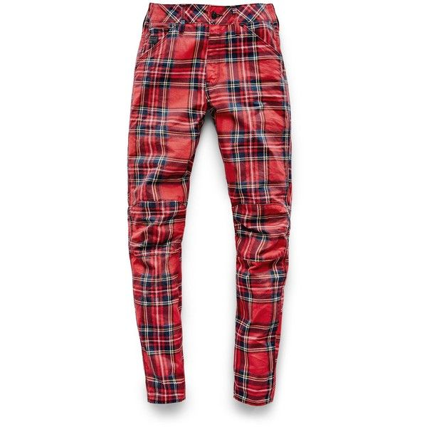 G-Star RAW G-Star Elwood X25 3D Boyfriend Women's Jeans (9.690 RUB) ❤ liked on Polyvore featuring jeans, red jeans, boyfriend fit jeans, g star raw jeans, plaid jeans and boyfriend jeans