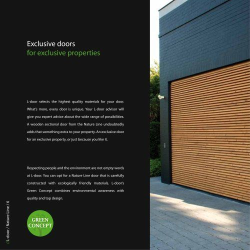 Sektionaltor aus Holz  L-Door nature line