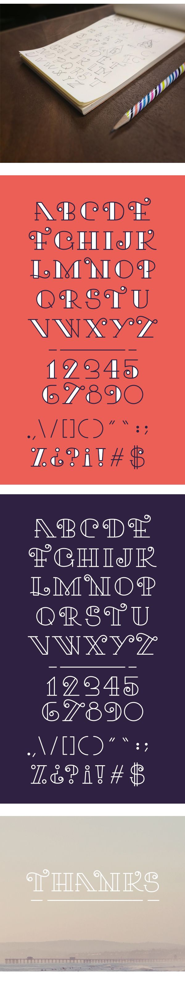 """My first dive into typography. This typeface was inspired from 55 Hi's """"EFF typefight""""."""