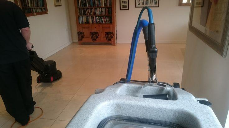 Advantex Cleaning - Cleaning and Polishing a Limestone Floor near Bristol