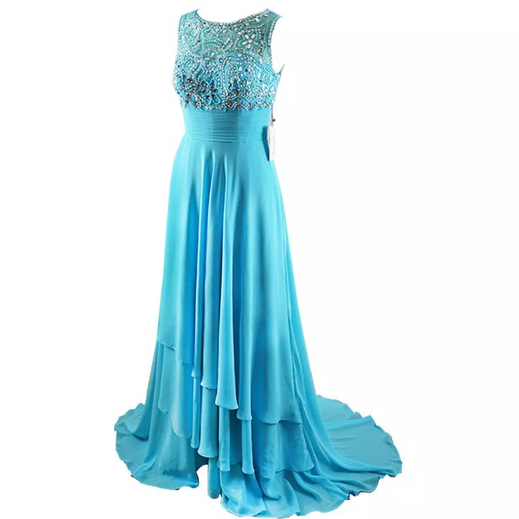 Hot Sale Cap Sleeves Beading Long Evening Gowns Plus Size Custom Made Chiffon Prom Dresses 2017 Party Childrens Prom Dresses Couture Prom Dresses From Danthus, $173.87| Dhgate.Com