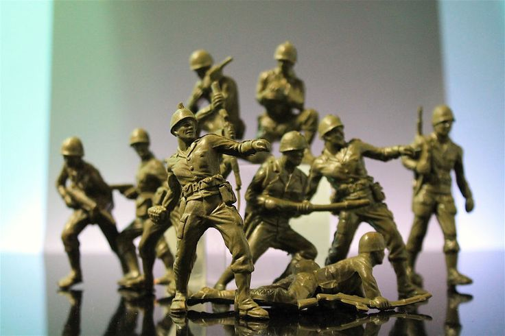 IDEAL Battle Action Soldiers 70mm Army Men Enemy Vintage Plastic Playset Figures  | eBay