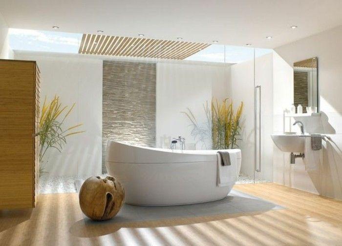 les 25 meilleures idées de la catégorie baignoire ovale sur ... - Salle De Bain Avec Baignoire Ilot
