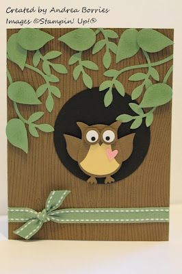 owl in a tree card