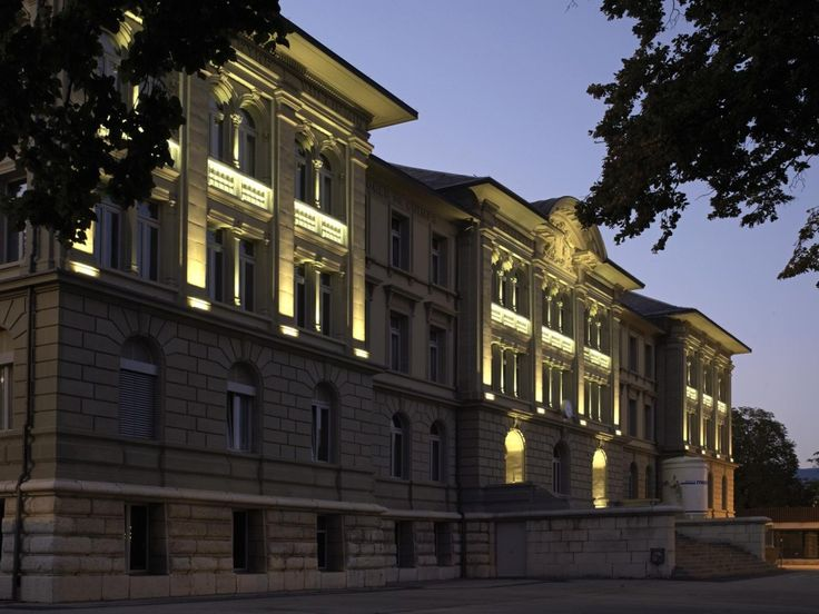 Collège Place d'Armes - Switzerland historical buildings #facades #lighting #project #LED
