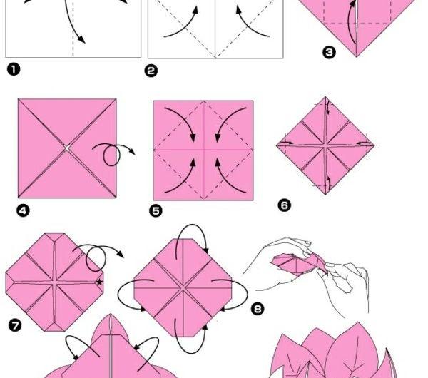 origami-facile-fleur-pliage-lotus-tutoriels-faire-fleurs