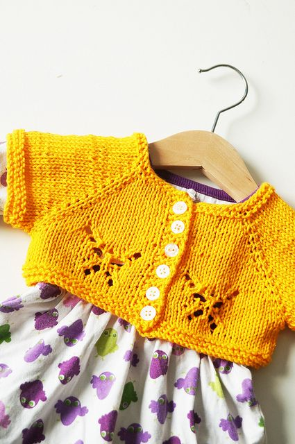 Baby Fjäril by Yarn-Madness. To celebrate, Fjäril has finally transformed itself to a baby and child sized version! A simple top down and seamless construction adorned with a beautiful butterfly lace. Pattern $3 on Ravelry.