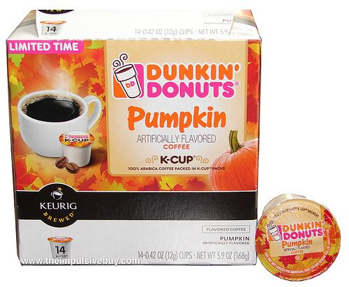 dunkin donuts pumpkin spice k cups are one of our favourites!