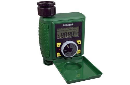 Instapark Pwt 07 Outdoor Waterproof Digital Programmable Single Outlet Automatic On Off Water Faucet Hose Timer With Rai Water Hose Water Timer Pool Cover Pump