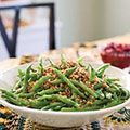 this recipe bakes the beans after blanching from countryliving fresh green bean casserole