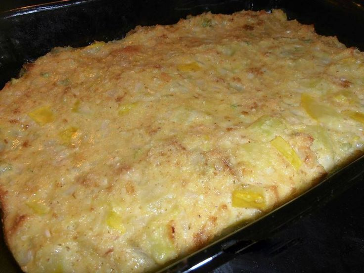 3 C. chopped yellow squash   3 C. crumbled cornbread   10.5 oz. cream of chicken or celery soup   1/2 C. diced celery   1/3 C. diced on...