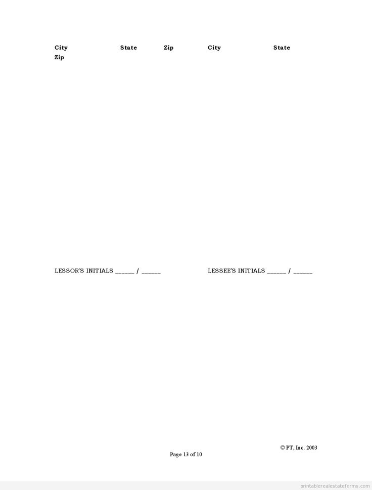Printable standard lease agreement template 2015