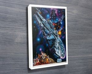 Star Wars Vintage Poster $24.00–$698.00 This canvas artwork features the vintage movie poster of the Star Wars movie. As with all art on this site, we offer these prints as stretched canvas prints, framed print, rolled or paper print or wall stickers / decals. http://www.canvasprintsaustralia.net.au/  #PhotosoncanvasAustralia #Stretchedcanvas #Gicleeprint
