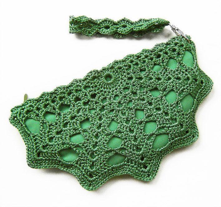 Crochet Shell Clutch purse