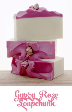 Just love this pretty pink rose soap