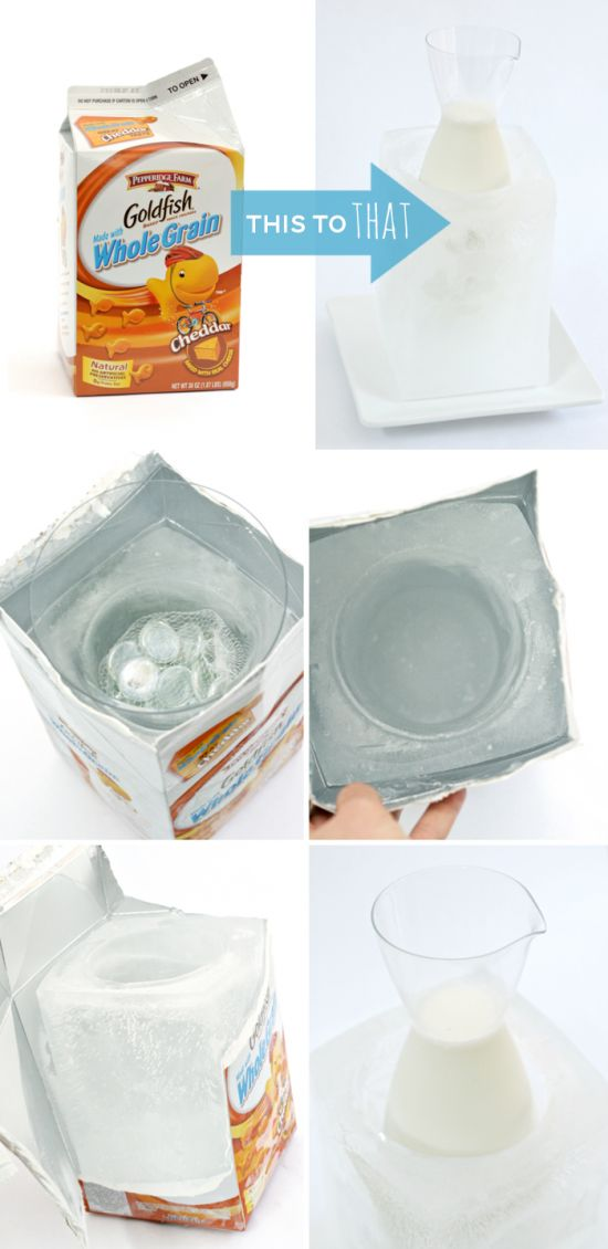 How to Make an Ice Block Bucket for Attractively Serving Cold Things at Parties: Attraction Serving, Ice Blocks, Serving Cold, Diy Ice, Birthday Parties Ideas, Blocks Buckets, Ice Buckets, Cold Things, Crafty Ideas