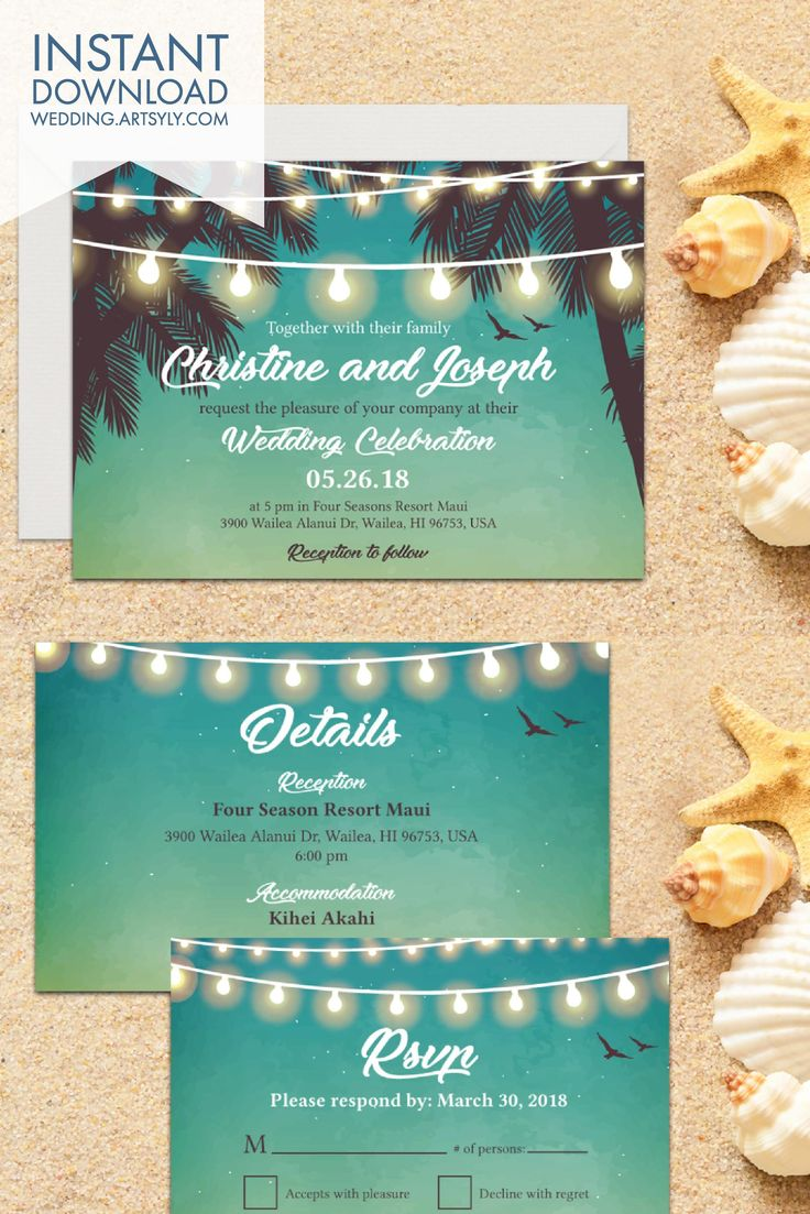Download this Wedding Destination Invitation or choose