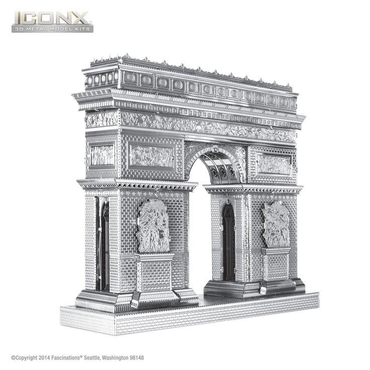 Fascinations Metal Earth 3D ICONX Laser Cut Model Arc de Triomphe – Metal Earth Models
