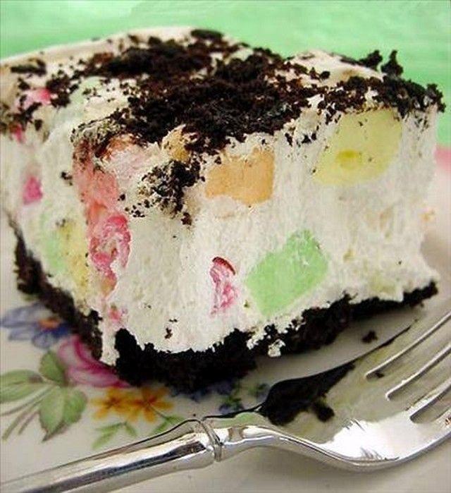 Fluffy mint dessert recipe easy desserts desserts and for Easy dessert recipes for easter